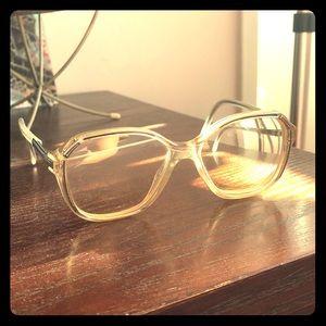 Vintage retro clear frame 80's eyeglasses 🤓